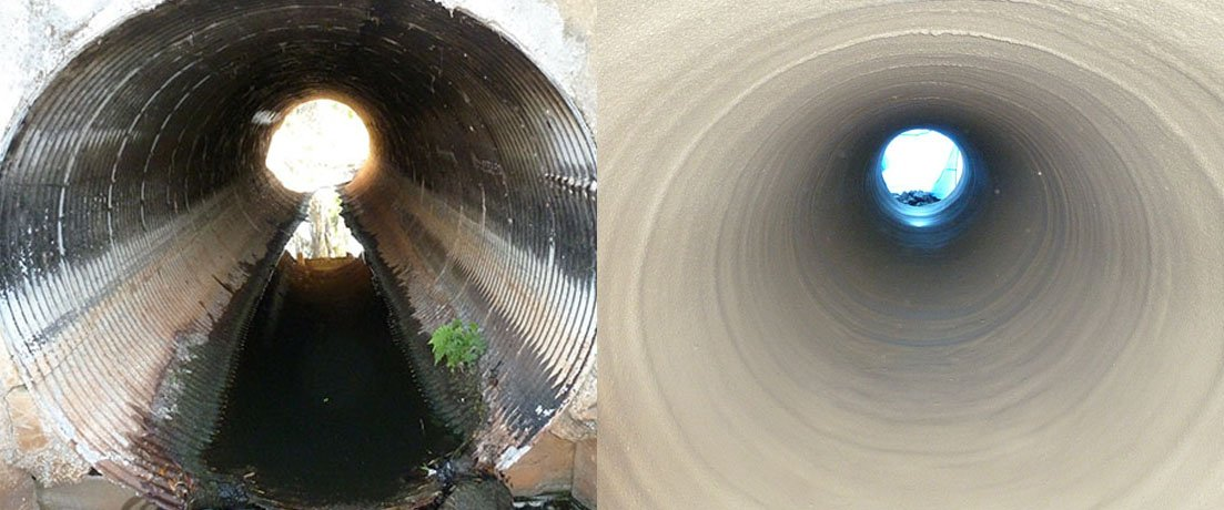 SEWER PIPE SPOT COATING AND REPAIR SERVICE